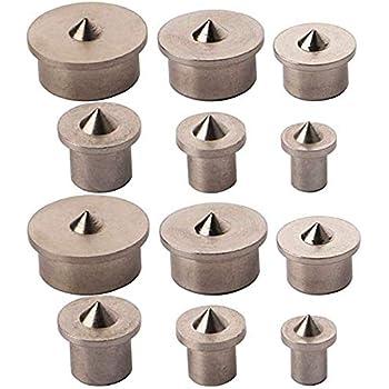 Holzdübel Zentrierspitzen, Anlising 12 Stück Positionieren von Holz Punkte Pin Set Dübel Zentrierspitze für Holzarbeiten Bohrwerkzeuge