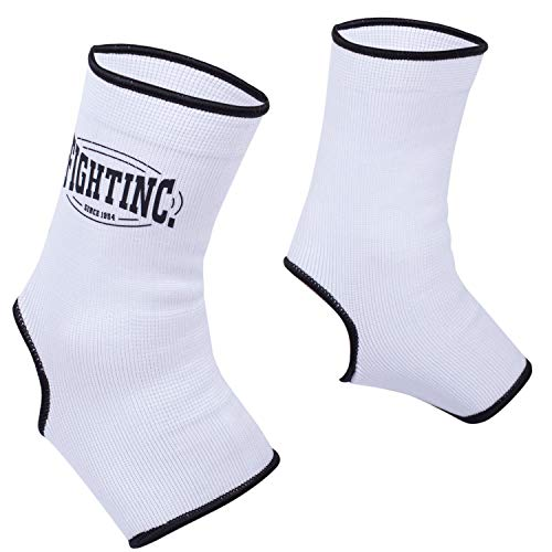Fightinc. Knöchelbandagen Pro - für Kickboxen Muay Thai MMA Kampfsport schwarz weiß rot Thaiboxen UVM weiß (100) L/XL
