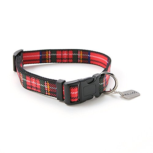 ラロック ソフトタッチカラー Mサイズ 中型犬用首輪 色:チェックレッド