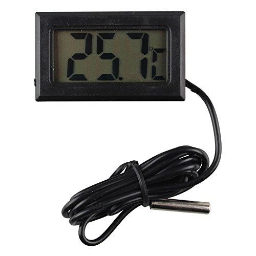 HALJIA Digitaler Kompakt-Thermometer mit LCD-Anzeige, Outdoor-Fernsensor und Temperatur-Sonde mit 1 m langem Kabel