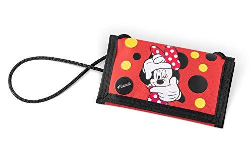 Brustbeutel Kinder - Geldbörse für Mädchen - Geldbeutel, Mini Portemonnaie, Kleingeld Münzbörse (Minnie)