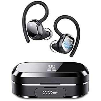 Tiksounds Wireless Earbuds in Ear Bluetooth Headphones with Digital Display 150 Hours of Playtime IPX7 Waterproof Deep Bass Bluetooth Earbuds for Sports and Work