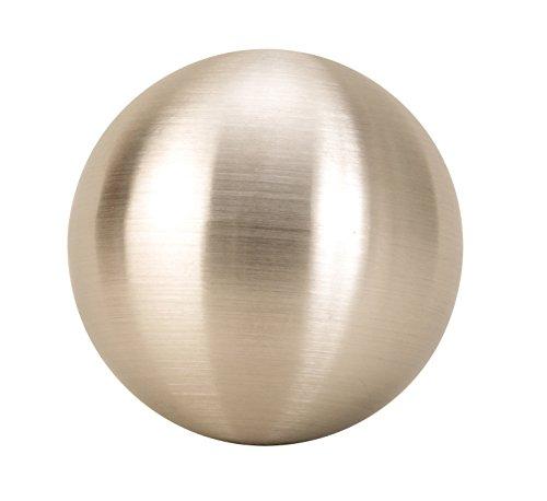 Lifestyle & More 4 pièce Boules de décoration Moderne en Acier Inoxydable de diamètre de 10 cm Argent Mat