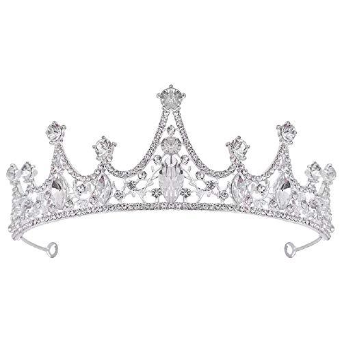 Generic Brands Corona Tiara Cumpleaños Corona Tiara Corona de Cristal Corona Nupcial para Bodas Fiestas de Cumpleaños Proms Concursos