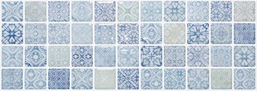 【 Dream Sticker 】 モザイクタイルシール キッチン 洗面所 トイレの模様替えに最適のDIY 壁紙デコレーション SWT-3 シャトー2 Chateau 2 【 自作アートインテリア/ウォールステッカー 】 貼り方説明書付属 (1枚)