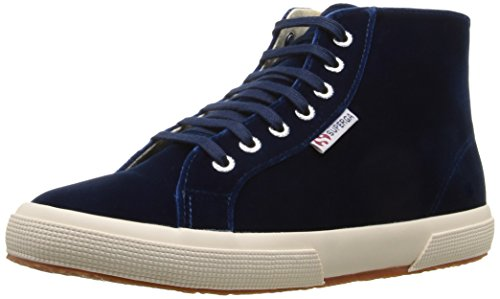 Superga Women's 2095 Velvtw Fashion Sneaker, Blue, 39.5 EU/8.5 M US
