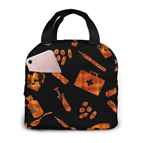 Bolsa de almuerzo Herramientas de enfermería Bolsa de asas Fiambrera aislada Bolsa refrigeradora resistente al agua para hombres/mujeres/picnic/paseos en bote/playa/pesca