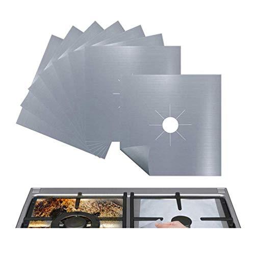 VOSAREA 5-TLG. Herdbrennerabdeckungen Wiederverwendbare Gasherdschutzvorrichtungen Antihaft-Herdplattenbrennerabdeckung Gasbrennerauskleidungen für Küchenwächter Gasherdplattenschutz