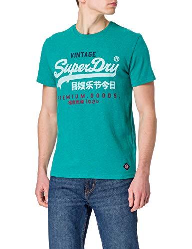 Superdry M1011003A Camiseta, Ocean Green Marl, XXL para Hombre