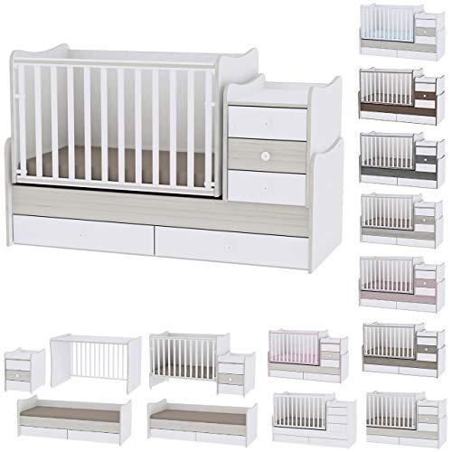 Lit bébé évolutif/combiné Maxi Plus Chêne clair Lorelli (Le lit se transforme en lit...