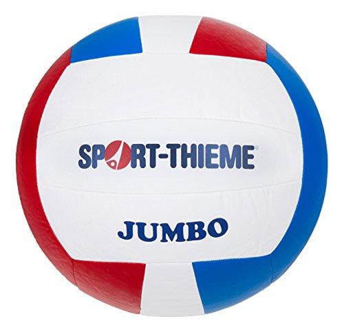 Sport-Thieme Riesen-Volleyball Jumbo | Leichter, großer, handgenähter Zeitlupenball | ø 43 cm | 315 g | Für Volleyball-Training, Völkerball, Teamspiele | Kunstleder | Blau, Rot, Weiß