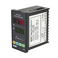 Onepeak TA6-SNR温度コントローラーデュアル4 LED PID加熱冷却制御TC / RTD入力SSR出力1リレーアラームサーモスタット