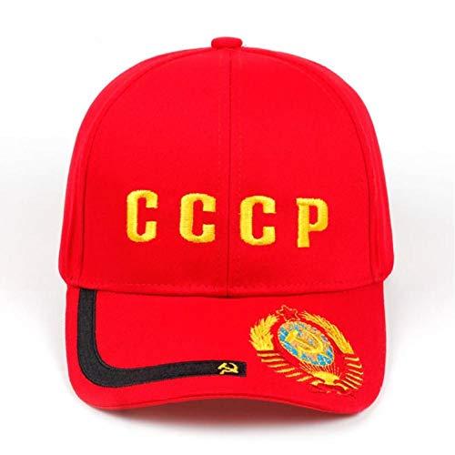 DGFB Bordado Nuevo CCCP URSS Emblema Nacional Gorra De Béisbol Unisex Negro Rojo Algodón Estilo Gorra De Golf