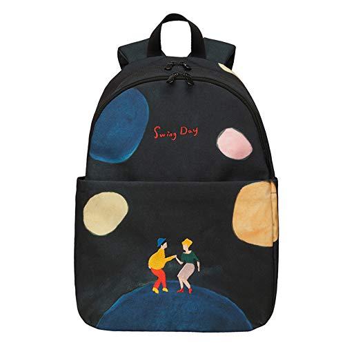 Canvas Backpack Multifunctional, Waterproof Travel Hiking Camping Rucksack Pack, Large Casual Daypac