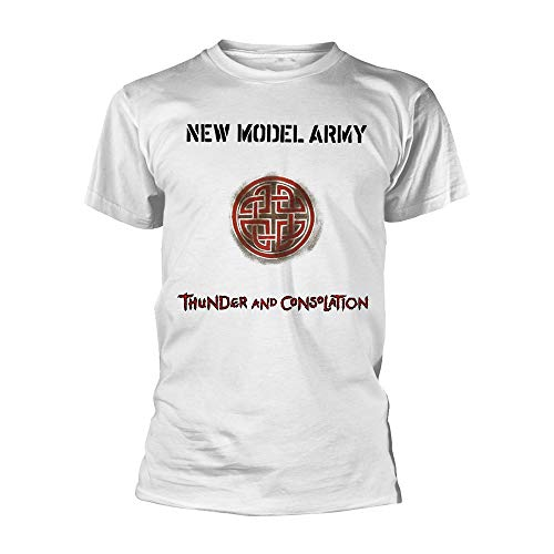 NEW MODEL ARMY Thunder and Consolation (White) T-Shirt M