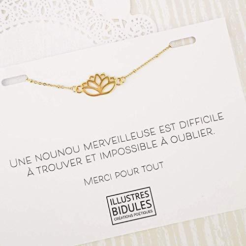 Cadeau Nounou: Bracelet'Une nounou merveilleuse est difficile à trouver et impossible à oublier'
