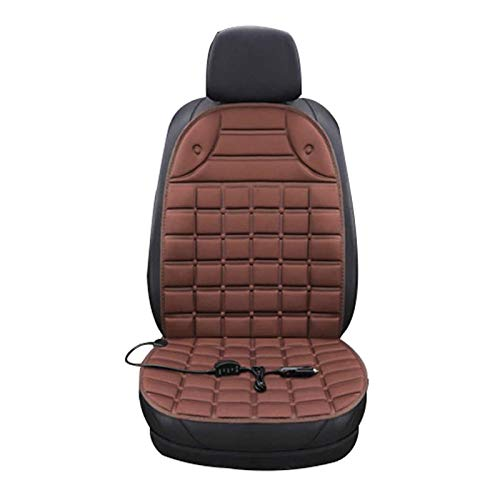 Heated Seats Auto Pad Heating Pad Heating Pad Universal Car Auto 12V Heated Seat Cover, Heated Cushion Car Seat Heating Pad Cover For Car Office Home (Color : Brown, Size : Single)