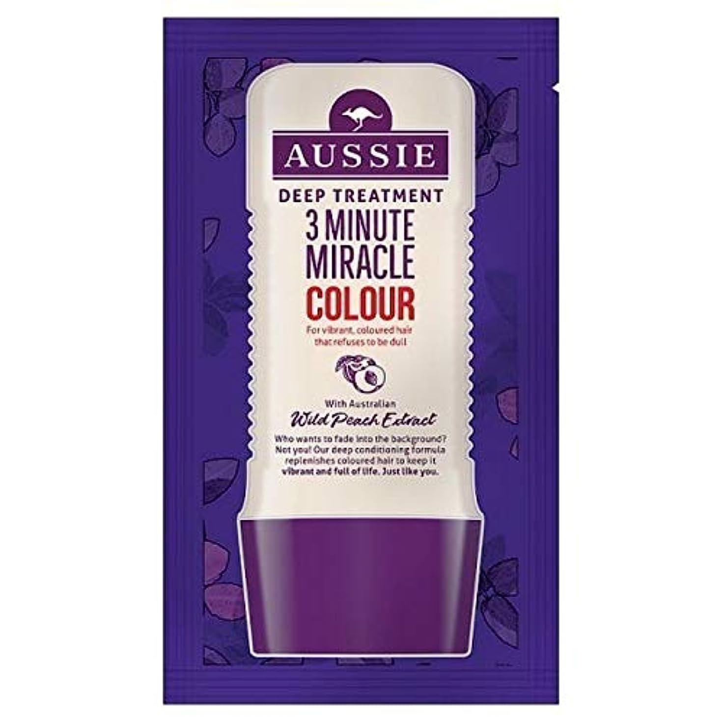 逃す液化する広範囲に[Aussie ] オーストラリアの深い治療3分の奇跡カラー20ミリリットル - Aussie Deep Treatment 3 Minute Miracle Colour 20ml [並行輸入品]