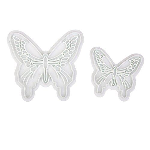 2pcs Papillon Moule Gaufrage Décoration pour Gâteau Fondant Outil Bricolage