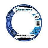 Electraline 13162 Cavo Unipolare FS17, Sezione 1 x 2.5 mm², Blu, 25 m