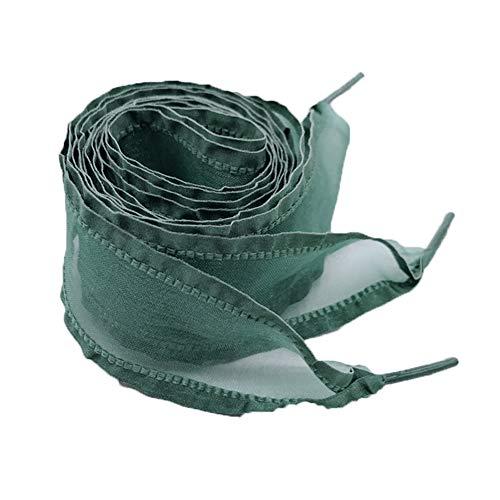 Demarkt - 1 par de cordones de satén planos, zapatillas deportivas, puntiagudas, arco, satén, anillos para hombres, mujeres, niñas y niños verde claro 4 cm*70 cm