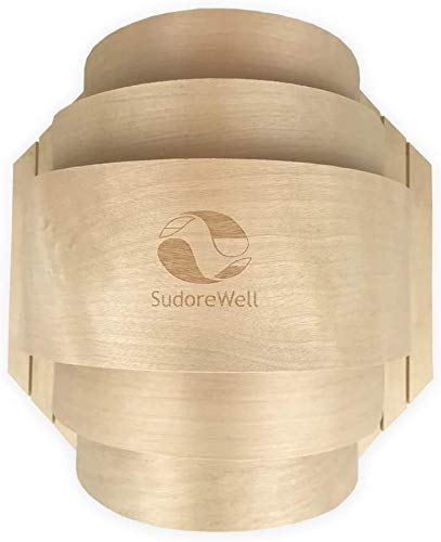 SudoreWell® Sauna Holzblendschirm groß für Saunaleuchte + Saunalicht