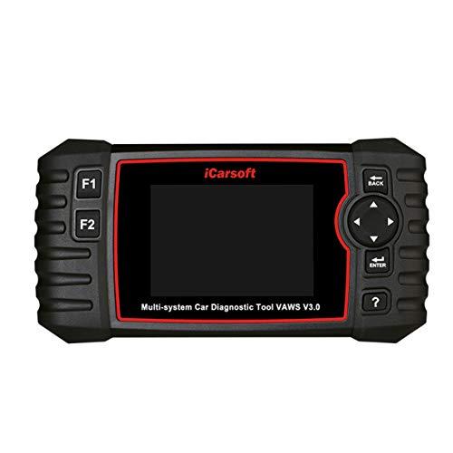 """iCarsoft VAWS V3.0 professionelles und leistungsstarkes Diagnose-Gerät für Audi / VW / Seat / Skoda Fahrzeuge mit OBD II, Bildschirm 10 cm / 4,0 """" TFT LCD"""