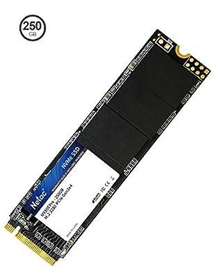 Netac 250GB Internal SSD NVMe PCIe Gen 3 x4, M.2 2280, 3D NAND Flash, Read Speeds up to 1700MB/s