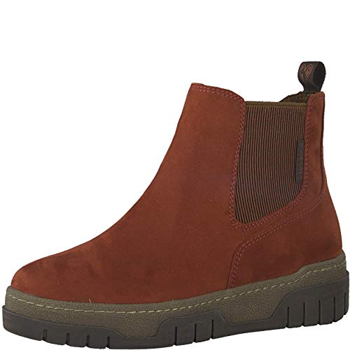 MARCO TOZZI Damen Earth Edition 2-2-25873-25 Boot Chelsea-Stiefel, Brick Comb, 38 EU