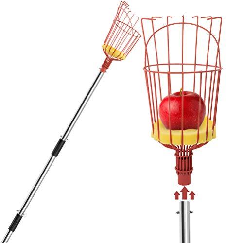 OUTCREATOR Fruit Picker,9ft Length Adjustable Removable Lightweight Fruit Catcher Tool,Fruit...