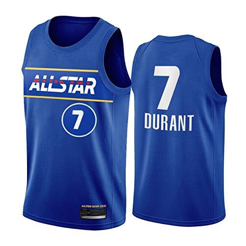 PQMW 2021 Jersey del Equipo de Durant All-Star, Nets # 11 Irving Basketball Jersey para Hombres, Swingman Juvenil Transpirable y con Ventiladores de Camiseta Resistentes Durant-S(55~65KG)