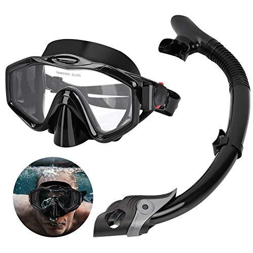 Wakects - Set Snorkeling, antiniebla, máscara Snorkeling con panorámica de 180 Grados y Tubo Snorkel, Kit Snorkeling Profesional para Adultos, esnórquel máscara Snorkel Set
