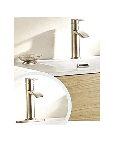 Giagni Sorizio Brushed Nickel 1-handle Bathroom Sink Faucet with Drain
