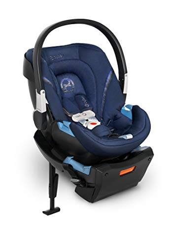 CYBEX Aton 2 with SensorSafe, Convertible Car Seat, Ultra-Lightweight Infant Seat, Real-Time Mobile App Safety Alerts, Removable Newborn Insert, Side-Impact Protection, Denim Blue