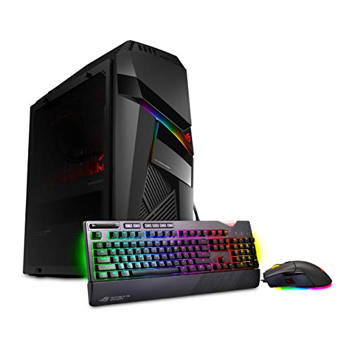 ROG Strix GL12 Gaming Desktop, Overclocked 9th Gen 8-Core Intel Core i9-9900K, NVIDIA GeForce RTX 2080 Ti 11GB, 32GB DDR4 RAM, 1TB M.2 SSD, Windows 10 Pro, Iron Grey, GL12CX-XB991