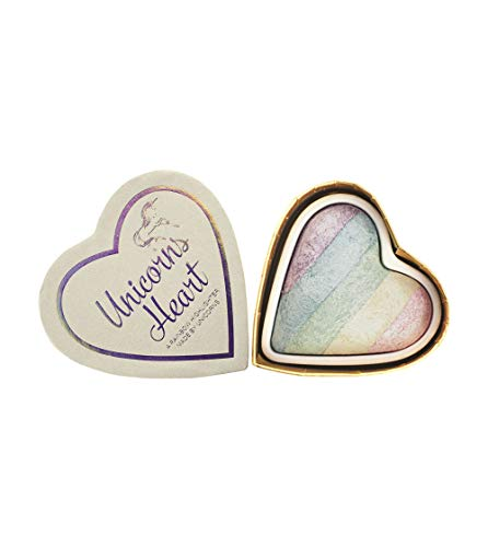 Makeup Revolution London Heart Makeup Highlighter - Unicorns Heart, Mixed