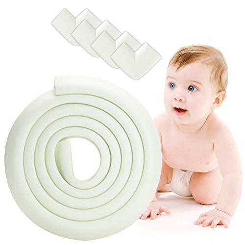 Protector Borde para Bebe, Protectores Para Esquinas y Bordes, Esquinas y Bordes de Muebles Proteger, Anti-Golpe Adhesiva para Bebés Niños Protecciones Borde Cobertura 2m y 4 Protector de Esquinas