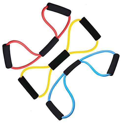 Bandas de resistencia para entrenamiento de fuerza (3 unidades), bandas de resistencia para el desarrollo muscular, yoga, pilates, fisioterapia, gimnasia.