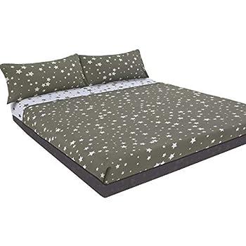 Montse Interiors Juego de sábanas Estampado (Stars, para Cama de 135x190/200): Amazon.es: Hogar