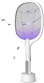 Eleadsouq Electric Mosquito Fly Swatter, Large Size Handheld Fly Swatter Racket with 3-Layer Mesh Protection, USB Recharge...