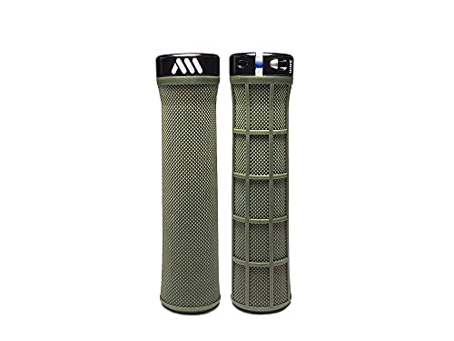 All Mountain Style AMS Manopole Berm - Comode manopole lock-on di forma conica, Verde
