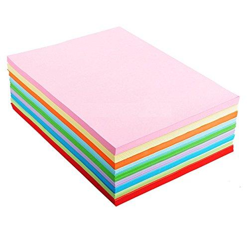 A4 Assortiment de couleurs papier origami 10 couleur par Lintimes 100 feuilles/sacs