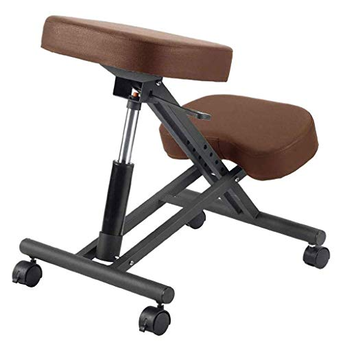 Ergonomic Kneeling Chair Height Adjustable Professional Orthopedic Posture Stool Neck Pain & Spine Tension Relief Kneel Seat with Soft Padded Knee Cushions (Color :A)