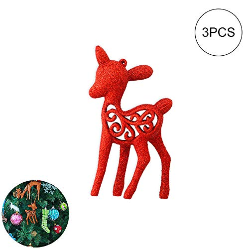 De Noël L/'Avent Noël Autocollants Numéros 1-25 avec rennes volants Simple Feuille