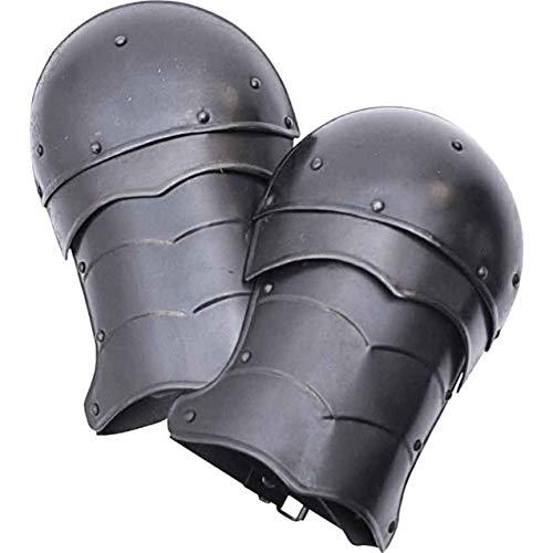 Hombreras de hombro pequeas ennegrecidas Markward armadura medieval Cosplay LARP