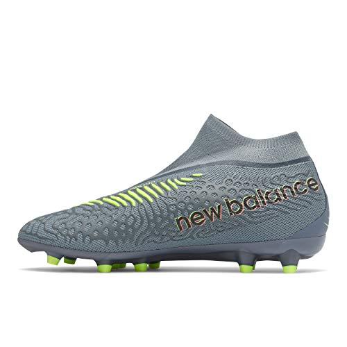 New Balance Men's Tekela V3 Magia Firm Ground Soccer Shoe, Thunder/Bleached Lime Glo, 10