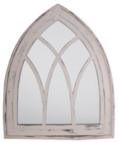 Esschert Design Gothic White wash Spiegel, weiß, 66 x 4,8 x 80 cm