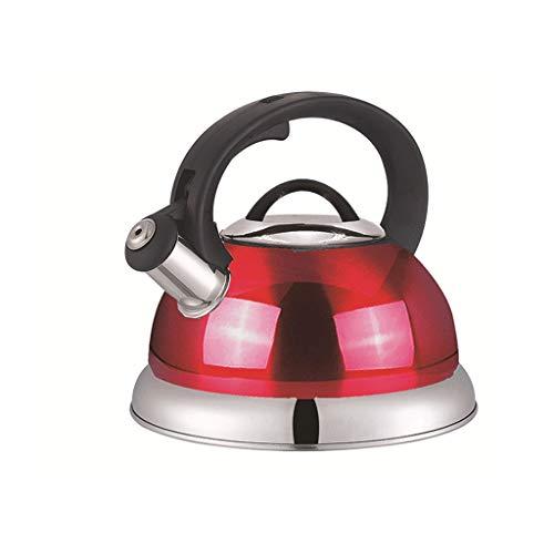 SHYOD Hervidor de agua con silbato de acero inoxidable 3L, hervidor de inducción, hervidor de té, estufa de Gas, tetera, utensilios de cocina para acampar en casa