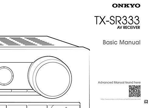 Onkyo Integra TX-SR333 Basic Receiver Owners Instruction Manual Reprint [Plastic Comb]