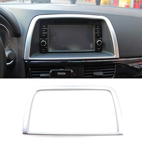 AUTOXBERT Fits for Mazda Cx-5 Cx5 Ke 2012 2013 2014 2015 2016 Chrome Interior Dashboard Center Control Navi Screen Cover Trim Frame Decoration